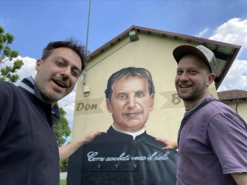 Un Don Bosco di 7 metri all'Agnelli